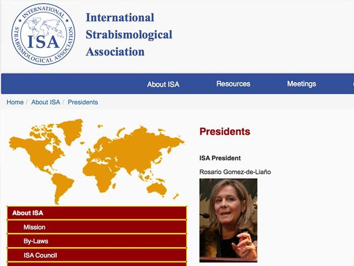 La Dra Rosario Gomez de Liaño ha sido nombrada Presidente de la Sociedad Internacional de Estrabología